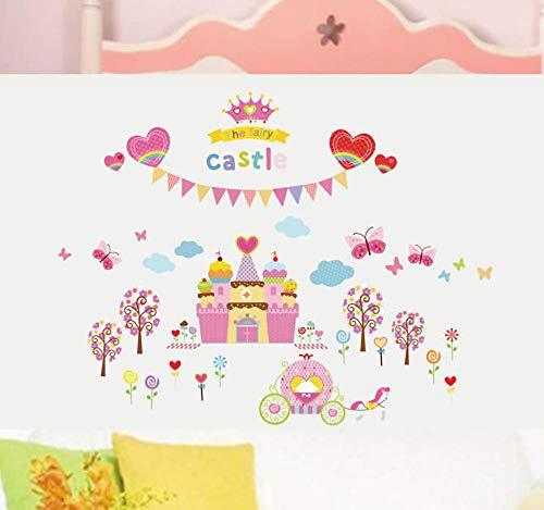 Papier peint-Chambre Castle Mural 110x140cm Autocollant Mural Pour Chambre D'enfant/Jardin D'enfants/Salon/Chambre/Décoration De Bureau
