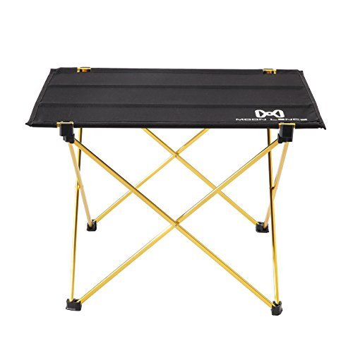 MOON LENCE Portable Lightweight Folding Camping Hiking Picnic Table (Gold)