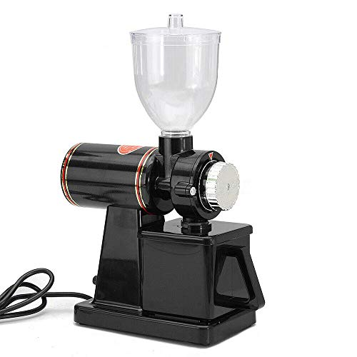 Electric Grinder Black (Us Plug), Commercial Coffee Grinder Electric Automatic Mill Usa Plastic Black Bean File Control Valve Adjust Almighty Multi-Purpose Mung Beans Etc. Burr Home Mini Auto Espresso