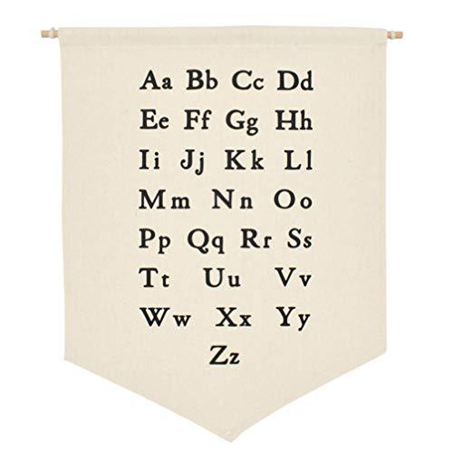 TOYANDONA Cartaz de letras do alfabeto inglês para exibição de parede, ornamento, linguagem, artes e habilidades, cartazes para decoração de berçário de sala de aula