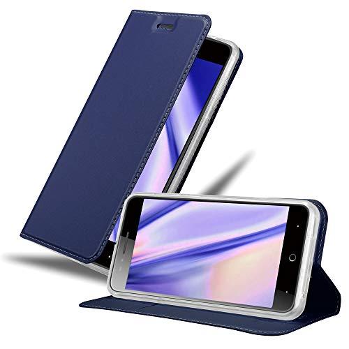 Cadorabo Hülle für ZTE Blade A612 in Classy DUNKEL BLAU - Handyhülle mit Magnetverschluss, Standfunktion und Kartenfach - Case Cover Schutzhülle Etui Tasche Book Klapp Style