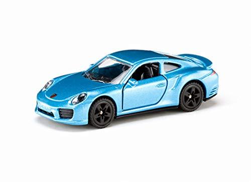 SIKU 1506, Porsche 911 Turbo S, Metall/Kunststoff, Blau, Spielzeugauto für Kinder, Öffenbare Türen