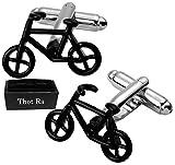 Thot Ra Mancuernillas de Bicicleta Negra Ciclista Bici Mod. A-555