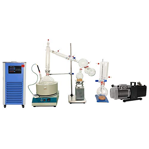 HNZXIB 10L Short Path Distillation Kit with Cooling Chiller and Vacuum Pump