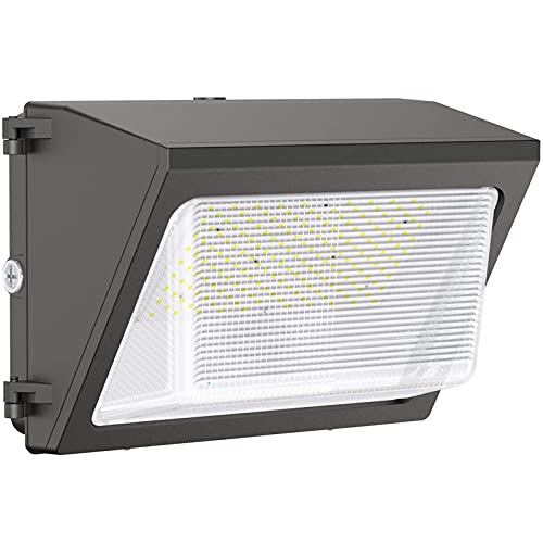 LED Wall Pack Light, 120W 15600LM with Dusk to Dawn Photocell 5000k (100-277V), ETL/DLC Certified, Suitable for Outdoor Shop Commercial Security WallPack Lighting for Outside Warehouse, Parking Lot
