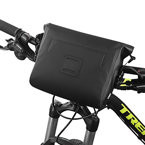 Roswheel Waterproof Bike Handlebar Bag Bicycle Basket Front Storage Bag, Mountain Road MTB Bike Front Frame Bag with Shoulder Strap