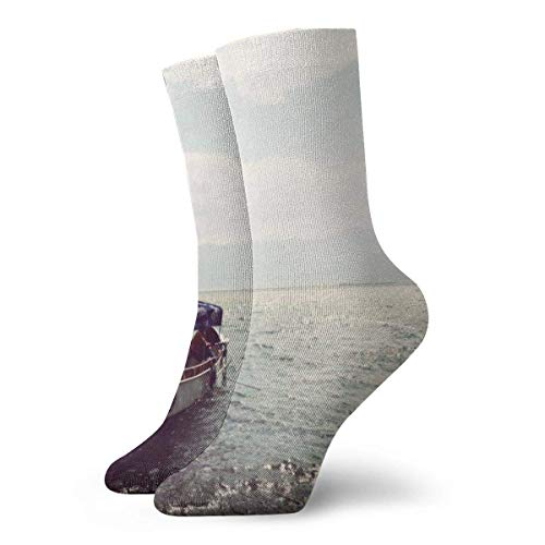 Kevin-Shop Kreuzfahrtschiff zum Meer Kompressionsstrümpfe Fun Casual Crew Socken, dünne Socken Kurzer Knöchel für Outdoor, Athletic Moisture Wicking