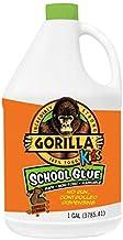 Gorilla Kids School Glue, 1 gallon Bottle, White, (Pack of 2)