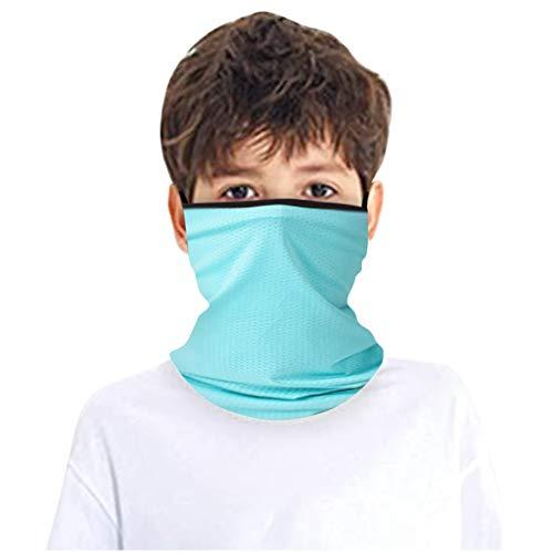 riou Kinder Schlauchschal Multifunktionstuch Sommer Atmungsaktiv UV-Schutz Mundschutz Halstuch Schlauchtuch für Jungen und Mädchen