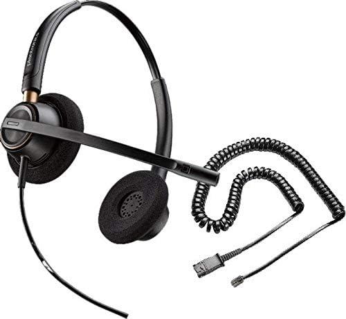 ShoreTel Compatible Plantronics HW520 EncorePro 520 Ultra Noise-Canceling VoIP Headset Bundle for ShoreTel IP Phones: 100, 212, 230, 230G, 265, 530, 560, 560G, 565, 565G, 655