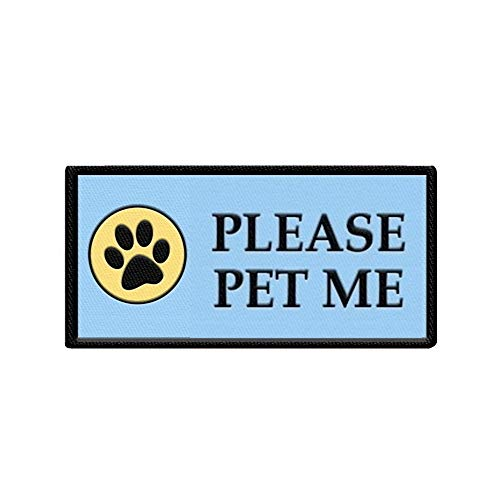 WORKINGSERVICEDOG.COM Please Pet Me - Sew On Patch for Service Dog Vest or Harness