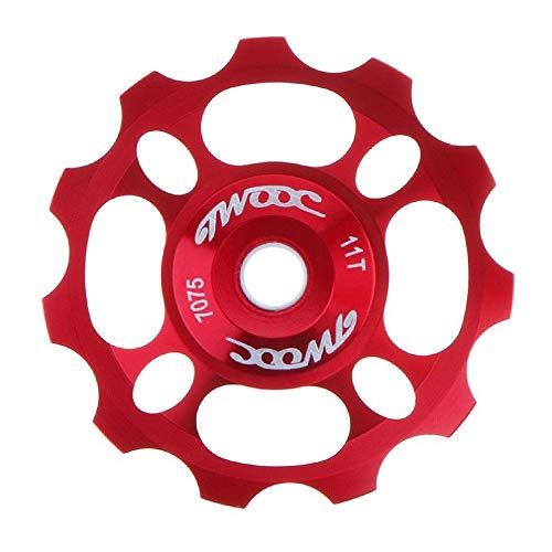 2020 Jans GE' Tienda Universal CNC 11T Bicicleta Trasera de la Bicicleta Guía de la polea de la Rueda Cerámica Cerámica Cojinete Polea de la Locura para la Bicicleta MTB/Carretera (Color : GR)