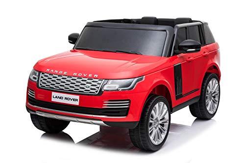 RIRICAR Voiture électrique Enfant 4x4, Range Rover, Rouge, 2 Places, avec télécommande à 2,4...