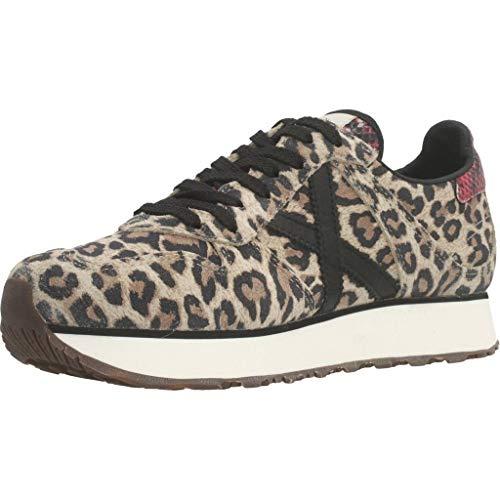 Munich Massana Sky, Zapatillas de Deporte para Mujer, Marrón (Leopard