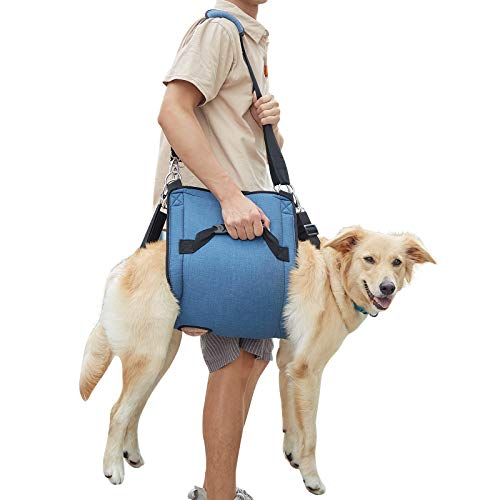 Dog Carry Sling, Emergency Backpack Pet Legs Support & Rehabilitation Dog Lift Harness for Nail Trimming, Dog Carrier for Senior Dogs Joint Injuries, Arthritis, Up and Down Stairs(XXLarge)
