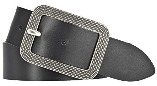 Mytem-Gear Damen Leder Gürtel 40 mm Damengürtel Ledergürtel (100 cm, schwarz)