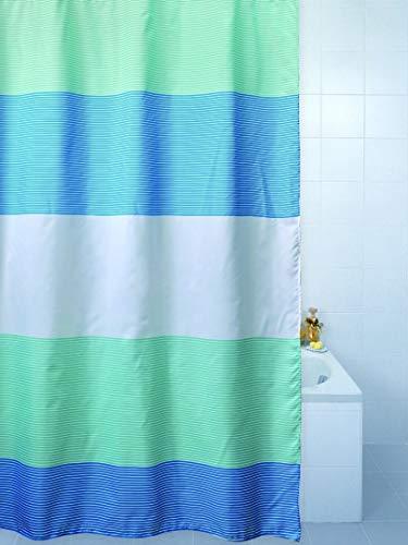 Horizon Duschvorhang, Polyester, Blau
