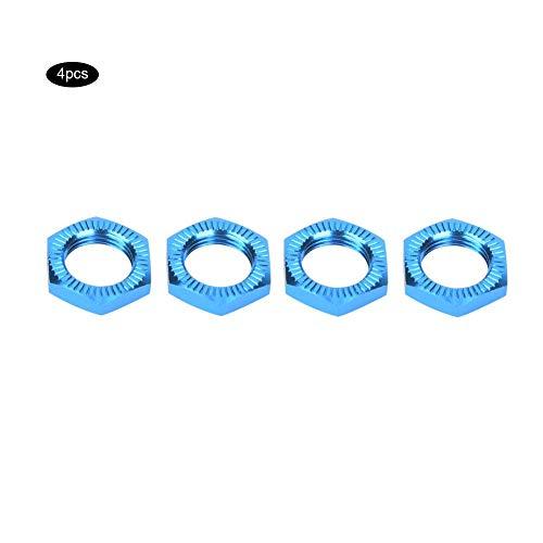 VGEBY1 RC Auto Radmuttern, 1/8 RC Auto Aluminiumlegierung M12 Radmuttern 17mm Schraubenschlüssel(Blau)