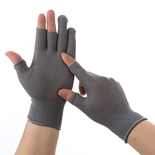 Breathable Anti skid Touch Screen Gloves Summer Thin Riding/Driving/Mountaineer Wrist Gloves Men Women Sport Running -Three Fingers Grey
