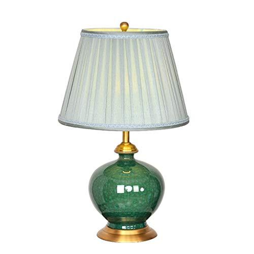 Lampe de table Salon Décor Chambre Chambre Lampe De Chevet Lampe De Bureau Moderne Tissu Ombre Veilleuse Américaine En Métal Décoration Céramique