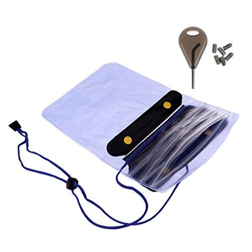 freneci Tabla de Surf Shortboard Surfing Fin Key, 6 Tornillos Y Cartera Impermeable Dry Bag