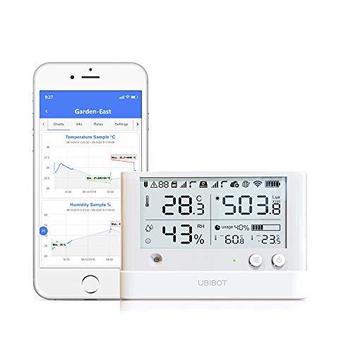 UbBot WS1 Pro WiFi Sensor de temperatura y humedad, sensor de temperatura inalámbrico del refrigerador, registrador de datos de temperatura, higrómetro,Android e iOS (2,4 GHz WiFi,IFTTT)
