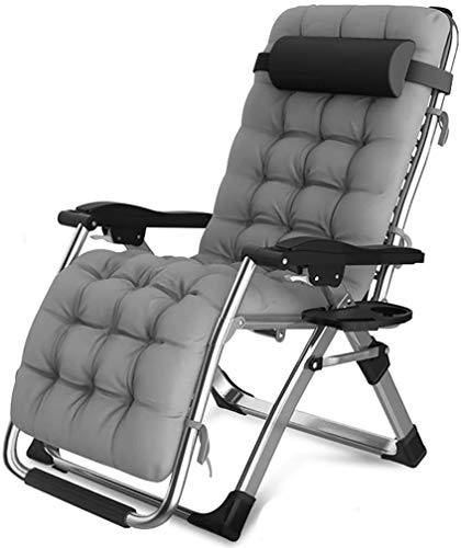 ZYLHC Patio Lounger Chair Zero Gravity Recliner Chair Practical Leisure Office Folding Chair, Metal Frame Folding Chair, Multifunctional Recliner, Zero Gravity Chair Combination, Outdoor Terrace Sun C