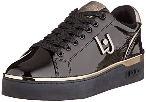 Liu Jo Shoes Silvia 01 Sneaker Patent Leather, Scarpe da Ginnastica Basse Donna, Nero (Black 22222), 37 EU