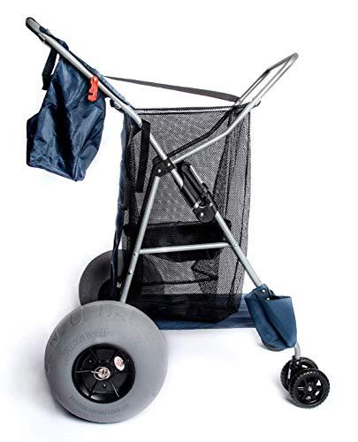Custom Big Wheel Beach Cart, 12' Balloon Tires, Rolls Easily Over Soft Sand