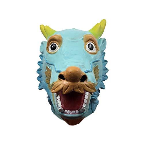ZHANGXIAOYU Máscara de Halloween Conjuntos Que Llevan máscaras de Animales se disfrazan Tocado Partido apoyos de la demostración Divertida de Dibujos Animados