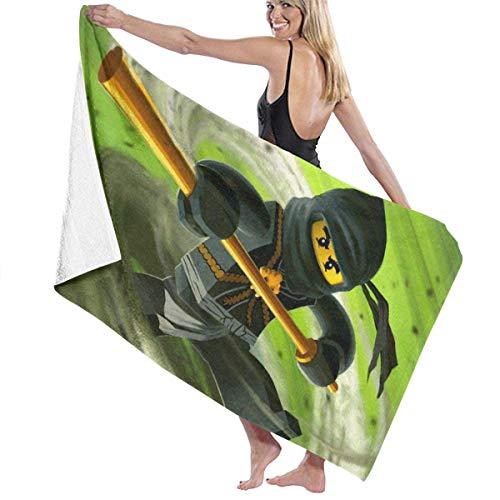 FETEAM Ninjago Masters of Spinjitzu Toalla de baño Toalla de Playa Uso como Yoga Viajes Camping Gimnasio Toallas de Piscina en Carrito de Playa Sillas de Playa Talla única ~ AQ7