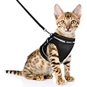 JOYO Cat Harness and Leash for Walking Escape Proof, Adjustable Cat Vest Harness Easy Control Petsafe Cat Leash and Harness Set with Reflective Strip for Small and Medium Cats (Small)