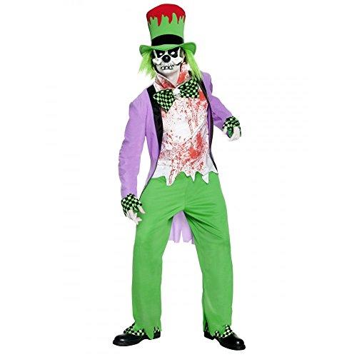 Preisvergleich Produktbild Smiffys Kostüm Böser Hutmacher mit Oberteil Hose Hut Hemd Maske Überschuhen und Ha Gr. L