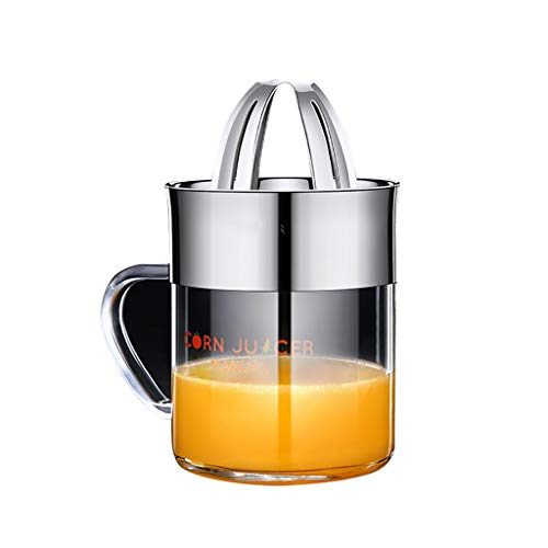 Manual Juicer Orange Citrus Fast Stainless Steel Graduated Citrus Juicer with Non-Slip Cover for BBQ Party Picnic Camping Home Restaurant