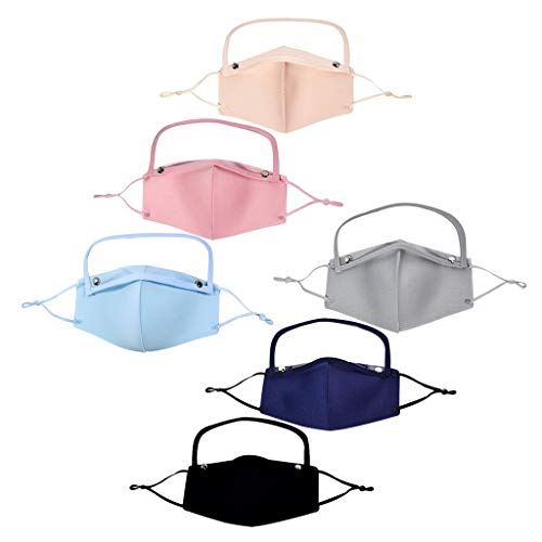 MORRAN Adult Dustproof Anti-Fog Reusable Protect with Detachable Eyes Shield, Safety Washable Cotton Protection