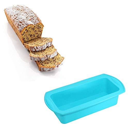 Quitd Moule à gâteau rectangulaire en silicone bleu