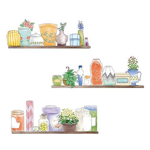 DOMYBEST 18pcs//feuille Simple Couronne PVC Sticker Autocollants Chambre de B/éb/é Chambre D/écorer Rose