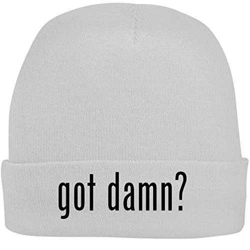 Shirt Me Up got Damn? - A Nice Beanie Cap, White, OSFA