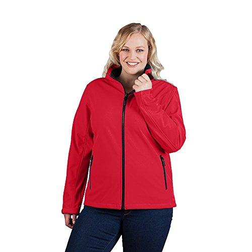 Promodoro Softshell Jacke C+ Plus Size Damen, XXXL, Rot
