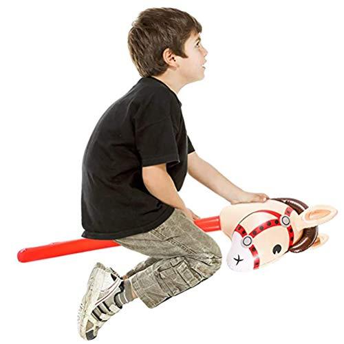 Borstu Aufblasbare Steckenpferd Kinder Pferdestab süßes Spielzeug Pferd Pony Stick Kleinkindspielzeug für Thema Party Dekoration