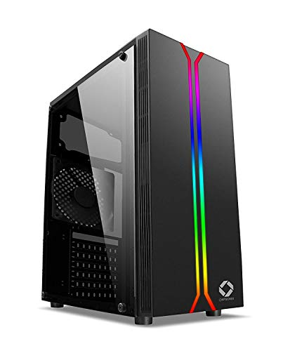 CHIST PC Intel Core i7 Upto 3.46GHz 8GB Ram 1TB Hard Disk DDR5 2GB Graphic Card WiFi RGB Gaming Cabinet