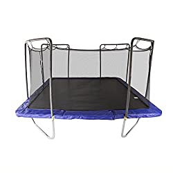 Skywalker Trampolines 15-Foot Square Trampoline with Enclosure Net