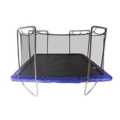 Skywalker Trampolines 15-Foot Square Trampoline with Enclosure Net – Added Safety Features –...