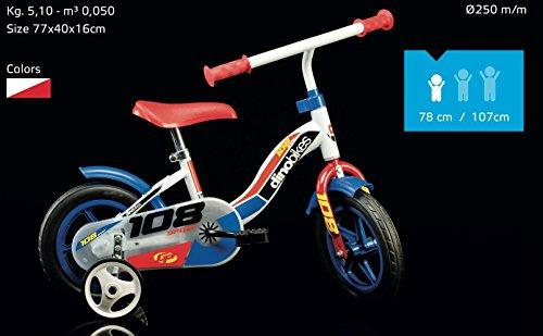 Dino Bikes- Vélo Garçon, 108L-0506, 10 Pouces