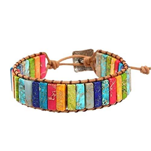 7 Chakra Bracelet Adjustable Bohemian Jewellery Braided Bracelets Handmade Chakra Stone Healing Crystal Jewelry for Womens Girls Utilities Practical Tool