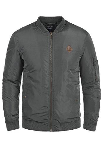 !Solid Park Herren Bomberjacke Übergangsjacke Jacke Mit Stehkragen, Größe:M, Farbe:Dark Grey (2890)