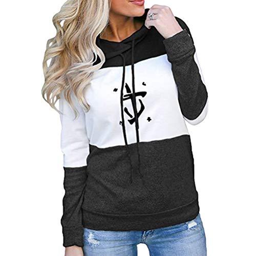 Yhgjhuie Doom Eternal Pullover Sudadera de Las Mujeres Moda y Suelta Outwear Pullover Nuevos Abrigos de Tendencia Sudaderas generosas y dignas Unisex (Color : Black05, Size : M)