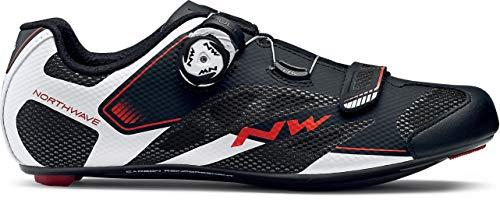 Northwave Sonic 2 Plus Wide Rennrad Fahrrad Schuhe schwarz/weiß/rot 2018: Größe: 39