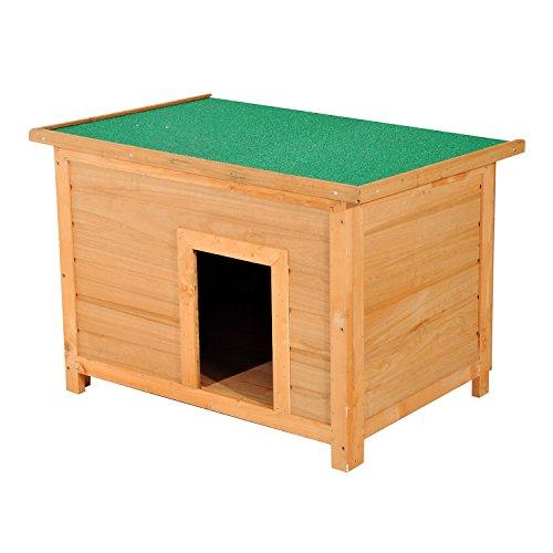 Pawhut Hundehütte Hundehaus Hundehöhle Hütte für Hunde Katzen Tannenholz 85x58x58cm