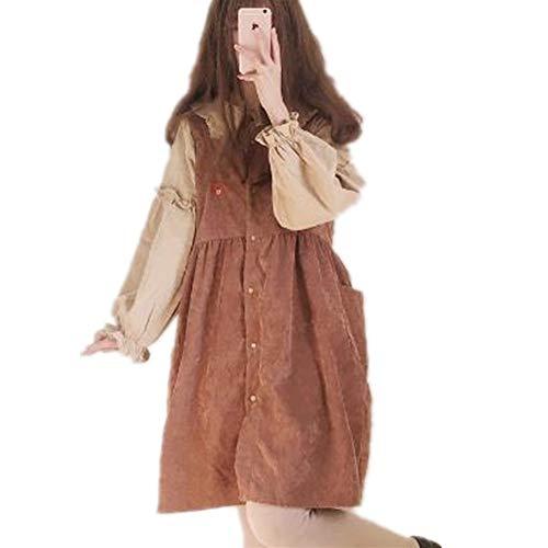 Dames Strand Casual Jurken Vintage Kawaii Ulzzang Corduroy Strap Jurk Vrouwelijke Leuke Kawaii Harajuku Kleding voor Vrouwen